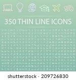 set of 350 minimal modern thin...