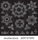 round ornament pattern with... | Shutterstock .eps vector #209737690