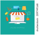 e commerce and web store icons... | Shutterstock .eps vector #209749168