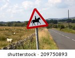 Horse And Rider Sign By Countr...