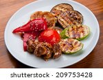 beautiful and tasty food on a... | Shutterstock . vector #209753428
