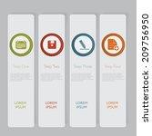 infographic. design number... | Shutterstock .eps vector #209756950