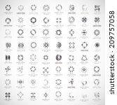 unusual icons set   isolated on ... | Shutterstock .eps vector #209757058