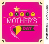 mother's day card in color.... | Shutterstock .eps vector #209770309