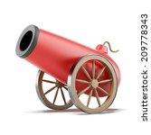 red cannon | Shutterstock . vector #209778343