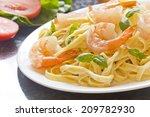 Shrimp Fettuccine Alfredo With...