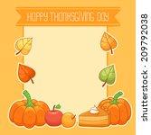 thanksgiving card | Shutterstock .eps vector #209792038