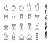 drink icons set | Shutterstock .eps vector #209795080