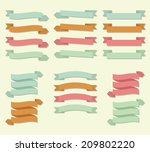 multicolored scroll banners... | Shutterstock .eps vector #209802220