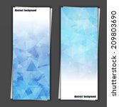 set of banner templates with... | Shutterstock .eps vector #209803690