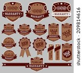 vintage labels and ribbon retro ... | Shutterstock .eps vector #209814616