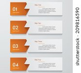 design clean number banners... | Shutterstock .eps vector #209816590