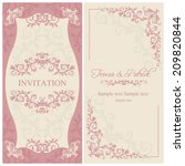 antique baroque wedding... | Shutterstock .eps vector #209820844