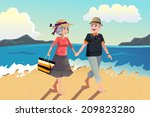 a vector illustration of senior ... | Shutterstock .eps vector #209823280