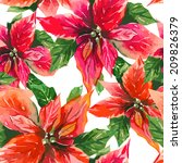 Poinsettia Seamless Pattern