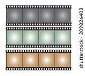 film strip vector illustration | Shutterstock .eps vector #209826403