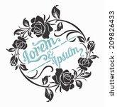 Stock vector rose motif for design 209826433