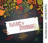 back to school  sketchy ... | Shutterstock .eps vector #209830993