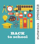 back to school card design.... | Shutterstock .eps vector #209836318