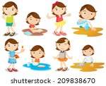 illustration of a young girl's... | Shutterstock . vector #209838670