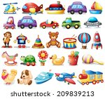 illustration of the collection... | Shutterstock . vector #209839213