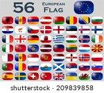 vector set of european flags in ... | Shutterstock .eps vector #209839858