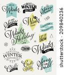 vector collection of retro... | Shutterstock .eps vector #209840236