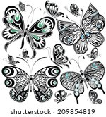 Stock vector butterfly set 209854819