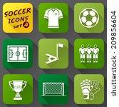 flat icons set of soccer... | Shutterstock . vector #209856604