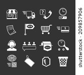 set icons of shopping and e...   Shutterstock .eps vector #209857906