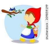 little red riding hood saw a... | Shutterstock . vector #209859199