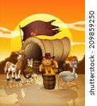 illustration of many animals at ...   Shutterstock .eps vector #209859250
