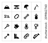 Set Icons Of Mountaineering...