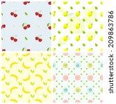 fruits pattern | Shutterstock .eps vector #209863786