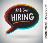we're hiring  speech bubble   Shutterstock .eps vector #209872279