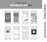 mobile app wireframe ui kit  5. ...