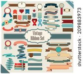 new vector set of ribbon... | Shutterstock .eps vector #209883973