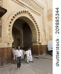 fez  morocco   july 19  people... | Shutterstock . vector #209885344