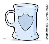 cartoon old tankard | Shutterstock .eps vector #209887030