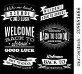black and white set of labels... | Shutterstock .eps vector #209891686