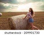 beautiful woman fashion posing... | Shutterstock . vector #209901730