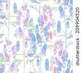 verbena seamless pattern | Shutterstock . vector #209904520