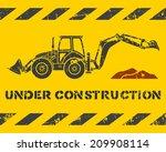 grunge yellow under...   Shutterstock .eps vector #209908114