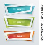 vector modern banners or frames ...