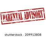 rubber stamp with text parental ... | Shutterstock .eps vector #209913808