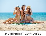 group of woman at the sea | Shutterstock . vector #209914510