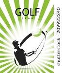 green golf icons silhouette...   Shutterstock .eps vector #209922340