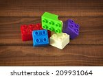 toy colorful plastic blocks on... | Shutterstock . vector #209931064