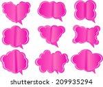 fold speech paper | Shutterstock .eps vector #209935294
