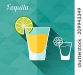 illustration with glass of... | Shutterstock .eps vector #209943349